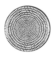 Drop Tarjotin Musta ja Valkoinen 38 cm