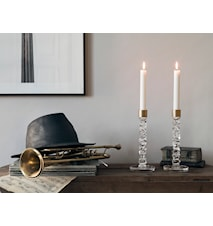 Carat Candle Holder Brass 24.2 cm 2 pcs