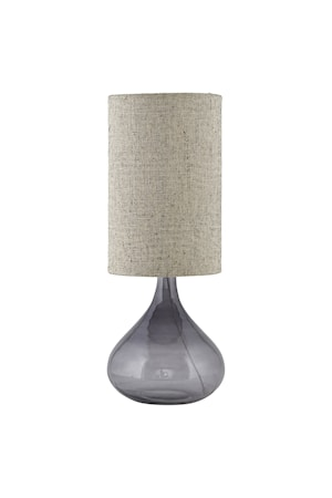 Bordslampa Med Ø 26x34cm Grå