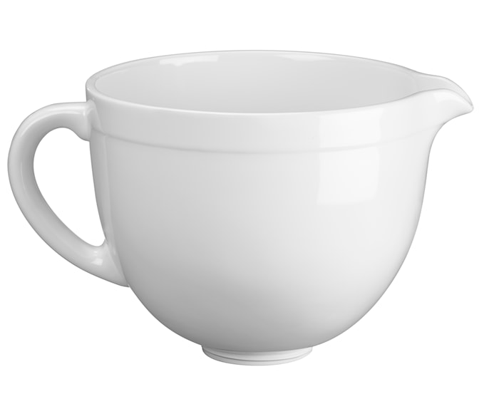 Artisan keramikskål til køkkenmaskine hvid 4,8 liter