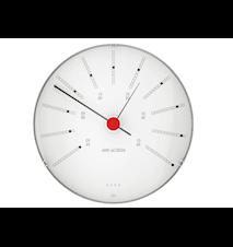Bankers Barometer Ø12 Cm Vit/svart/röd