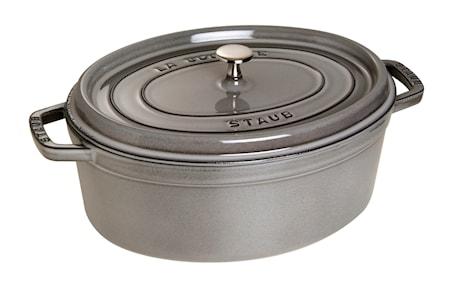 Oval gryta 33 cm grå 6,7 L