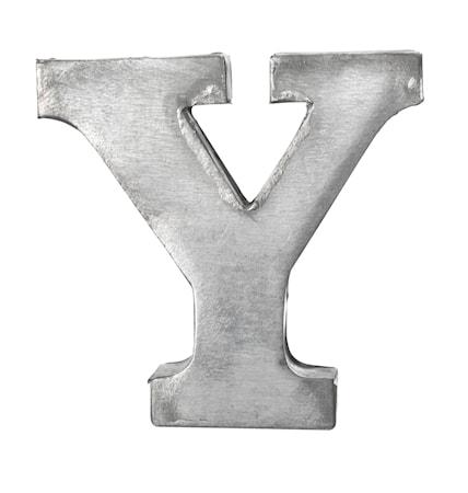 Bogstav Y 5,5 cm - Zink