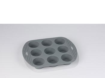 Muffinform x9 Silikon Grå