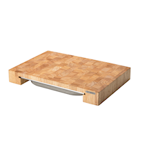 Chopping Board with Box Rubber Wood 48x32x6 cm