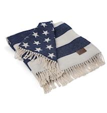 Flag Filt Vit/Navy 130x170cm