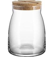 Beholder med korklåg 1,7 liter Klar