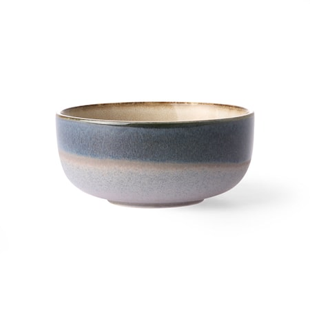 70's Skål Medium Keramikk Blå 23 cl