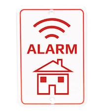 Denver Alarmskilt til å feste på vegg