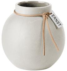 Rund Vas Stengods 10 cm - Vit