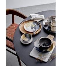 Sandrine Espressokopp med fat Grå 2 st