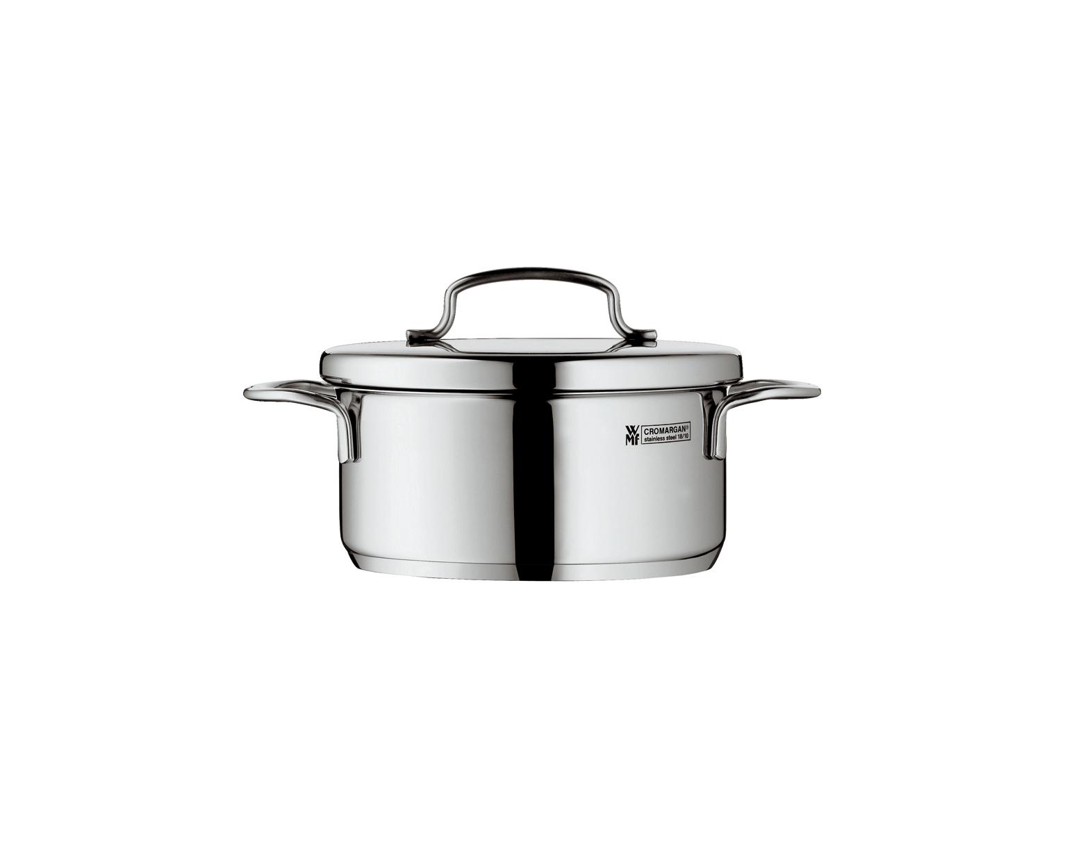 Mini Cook Låg Gryta 09L med lock Stål
