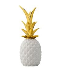 Ananas Dekoration Small Vit/Guld