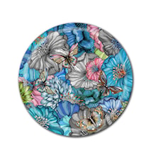 Plateau Nadja Wedin Design 38 cm Flower Power Blue