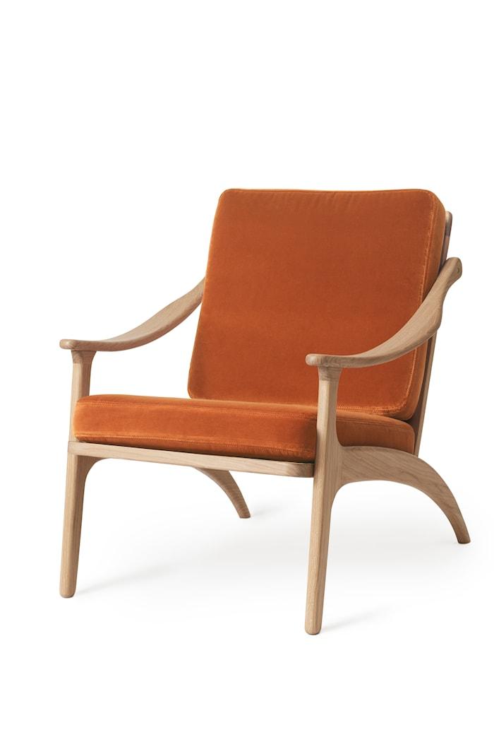Lean Back Lounge Chair Rusty Rose Sammet Ek