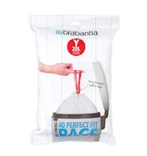 PerfectFit Avfallspåse Y 20L(40 påsar per förpackning)