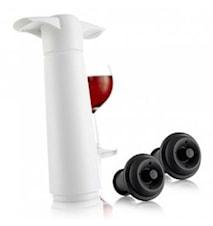 Vinpumpset presentförpackning vit