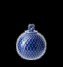 Rhombe Dekorasjonskule Ø7 cm Midnight Blue Porselen
