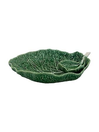 Cabbage Leaf med skål Natural 34 cm
