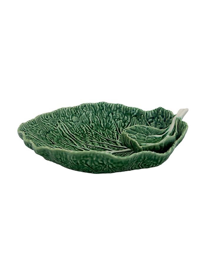 Cabbage Leaf mit Schüssel Natur 34 cm