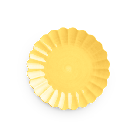 Oyster Tallrik Gul 28 cm