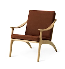 Lean Back Lounge Chair Nabuk Terra Ek