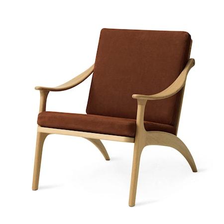 Lean Back Lounge Chair Nabuk Terra Ek