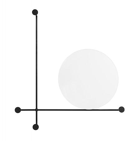 Spegel med Klädhängare Circles Small