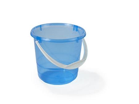 Muoviämpäri 5L läpinäkyvä/sininen pohjoism.