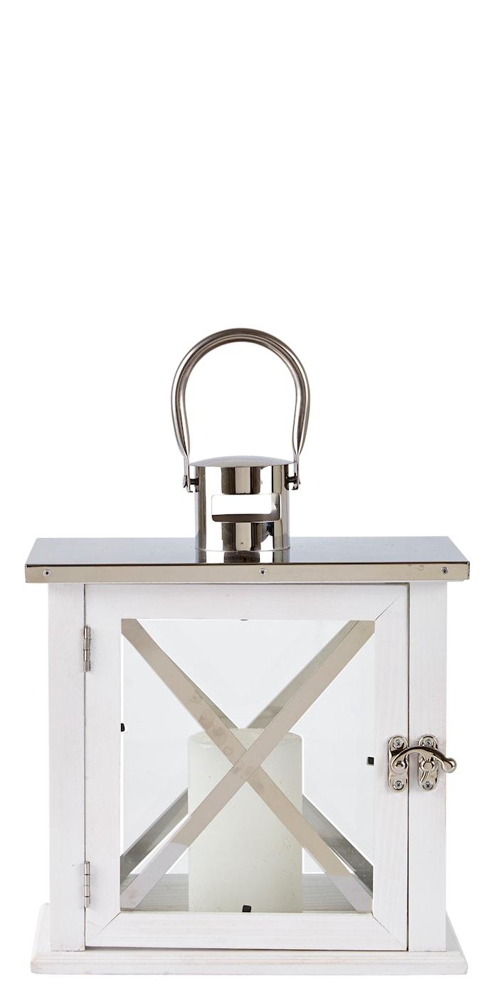 Lanterne Hvit/Sølv 26 cm