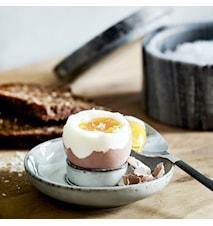 Eggeglass Rustique Ø 10x2 cm - Grå/Blå