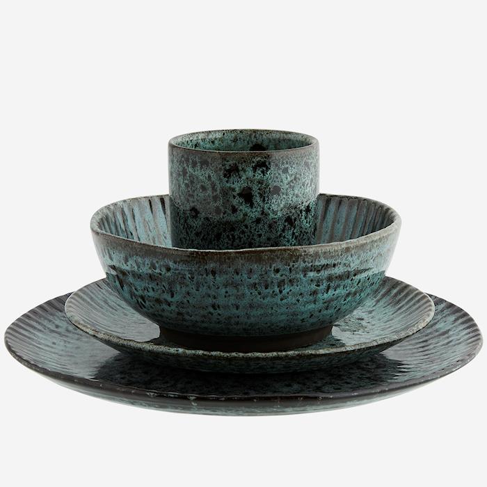 Tallrik Ø 27,5 cm Grön/svart