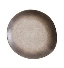 70's Keramik Tallrik Sand