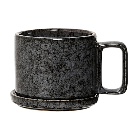 Noir Kuppi vadilla Musta Kivitavaraa 10x8 cm