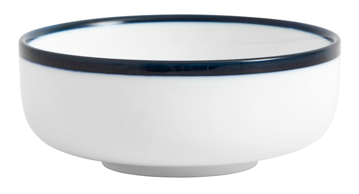 Skål BLUE RIM Ø 12 cm - Hvid/Blå