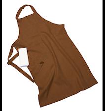 Erik classic langt forkle – Med håndduk, nougat