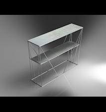 Cube konsolbord krom