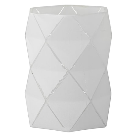 Fyrfadsstage Abilene 15 cm Hvid