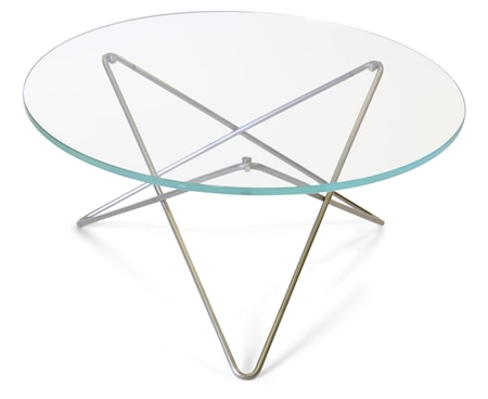 OX DENMARQ O-table glass soffbord ? Clear/stainless steel