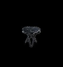 Tall Mini O Table Svart Marmor med Svart Ram Ø50