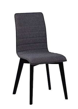 Gracy stol tyg mörkgrå/svartbetsad ek