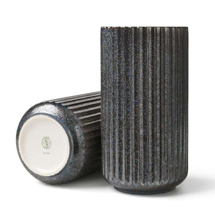Lyngby Radiance Vas Blå fajans H20,5 cm