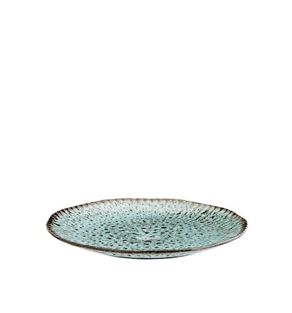 Tallerken Ø 27,5 cm - Grön/Svart