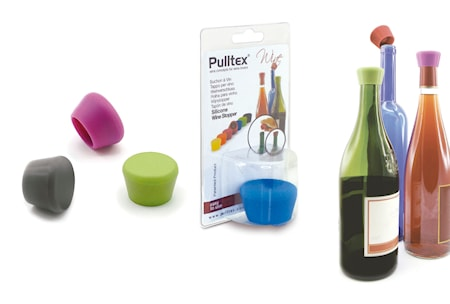 Pulltaps Basics Silicone Wine Stopper mix färger