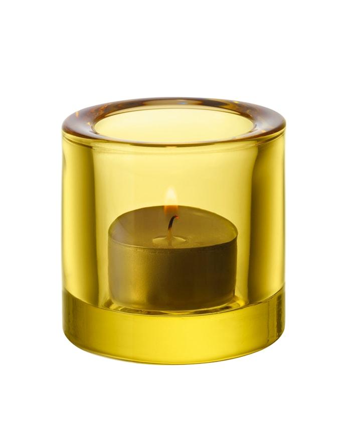 Kivi Teelichtglas 60mm Zitronengelb Geschenkbox