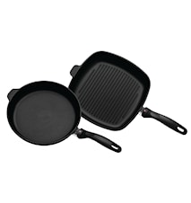 XD Induktion 2 Set: Stegepande og Grillpande (6428i, 63228i)