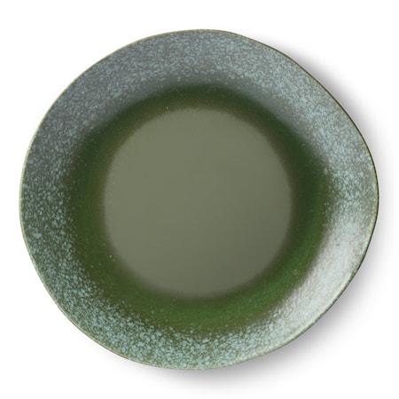 70's Spisetallerken i Keramik Grøn 29 cm