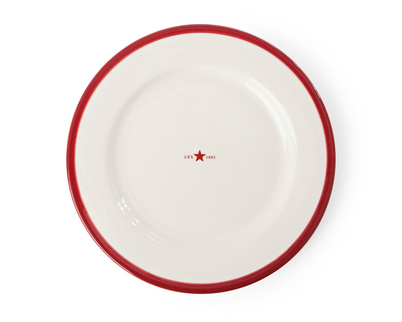 Icons Assiett Keramik Röd