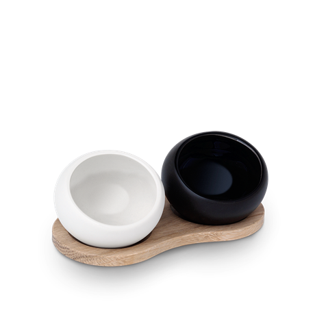 Salt- & Pepparbehållare Porslin Svart/Vit