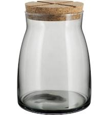 Krukke med korklokk 1,7 liter Grå